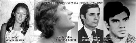 "Lila Gómez Granja, Alfredo ""Fredy"" Sinópoli Gritti, Ricardo Enrique Saibene Parra y Luis Agustín Santillán Zebi."