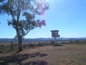 Puesto de observación en el campo de concentración de La Perla. Mayo de 2013.