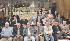 Los acusados por violaciones a los derechos humanos perpetradas en La Perla y Campo de La Ribera. Imagen: Télam