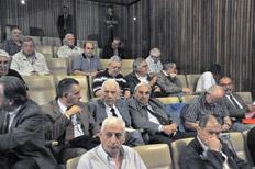 El represor Luciano Benjamín Menéndez reapareció en las audiencias del megajuicio por los delitos de La Perla. Foto, Irma Montiel para Télam.