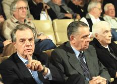 Barreiro y Menéndez, a la derecha, en las audiencias del juicio en Córdoba.