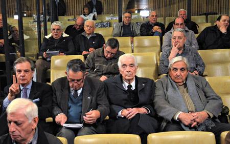 Luciano Benjamín Menéndez, Ernesto Barreiro y Héctor Vergez son los principales represores acusados por los crímenes de La Perla. Imagen: Irma Montiel, Télam.