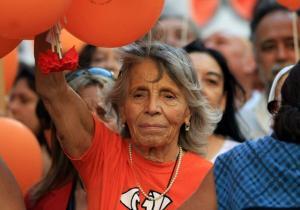 Sonia Torres en la marcha del 24 de marzo. Córdoba, 2013. Foto, Nicolás Castiglioni.