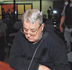 """El represor Héctor Pedro Vergez, alias """"Vargas"""" o Gastón. Imagen, Télam."""